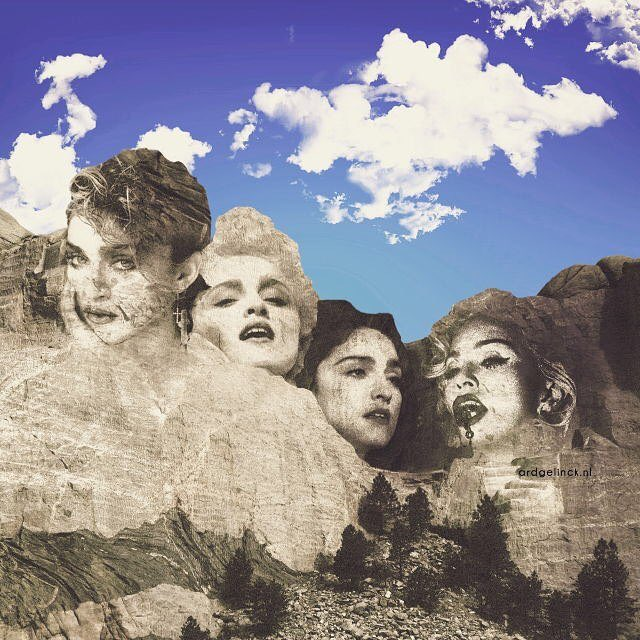 """Born to be a superstar. That's exactly what you are..."" #NewFacesOnMountRushmore #Madonna<br>http://pic.twitter.com/EgJNVnt8IL"