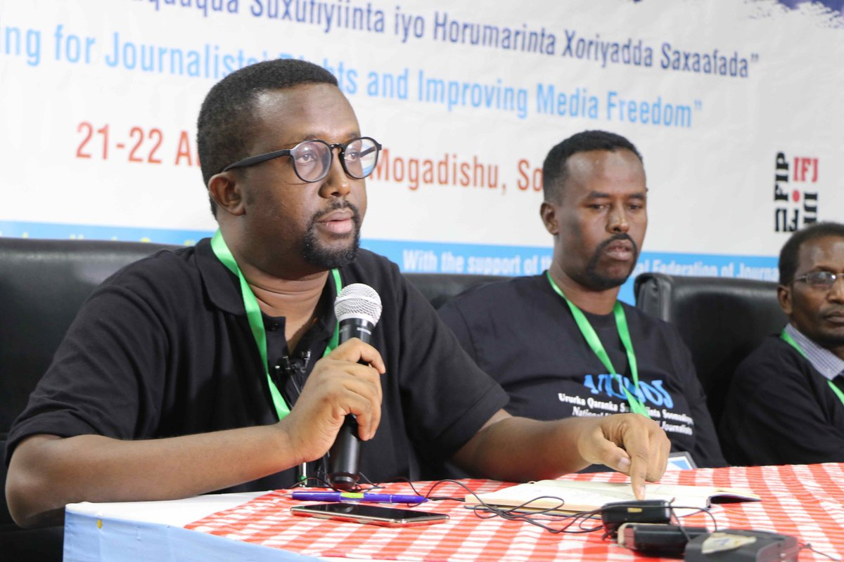 5th triennial General Assembly of NUSOJ kicked off yesterday in Mogadishu under the theme Organising for Journalists Rights and Improving Media Freedom. High powered IFJ delegation is attending in strong show of solidarity. #Somalia