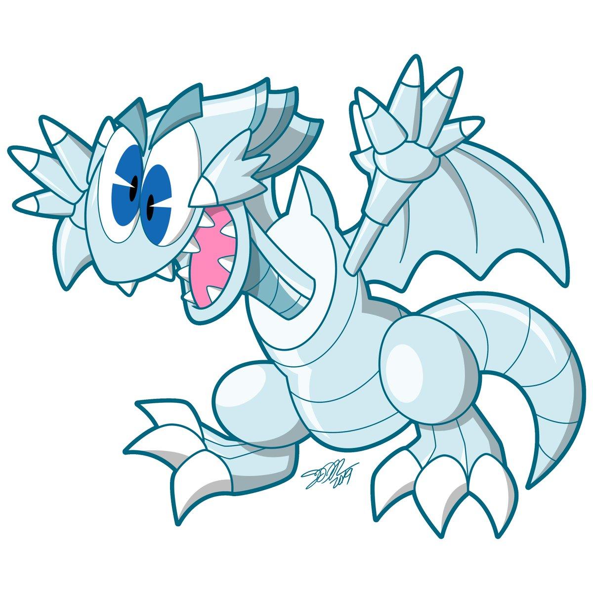 Heres a doofy Blue-Eyes Toon Dragon - #yugioh #anime #childrenscardgame #cartoon