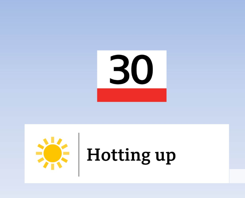 The last time we saw a temperature above 30°C in the UK was almost a month ago on the record-breaking day of 25th July (38.7°C).  We could get above 30°C this weekend...😎🌡️#bbq #summersback