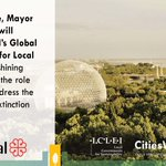 Image for the Tweet beginning: #MontrealLeadsLocalAction for #Nature  Mayor @Val_Plante, @ICLEI's