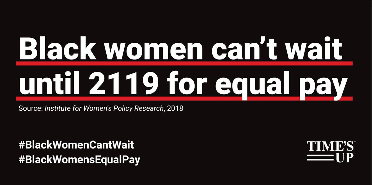 Black women working full-time year-round earned just 61 cents for every dollar earned by white, non-Hispanic men in 2017. Black women deserve to be paid fairly for their work. We must value Black women's work and that starts with #BlackWomensEqualPay.