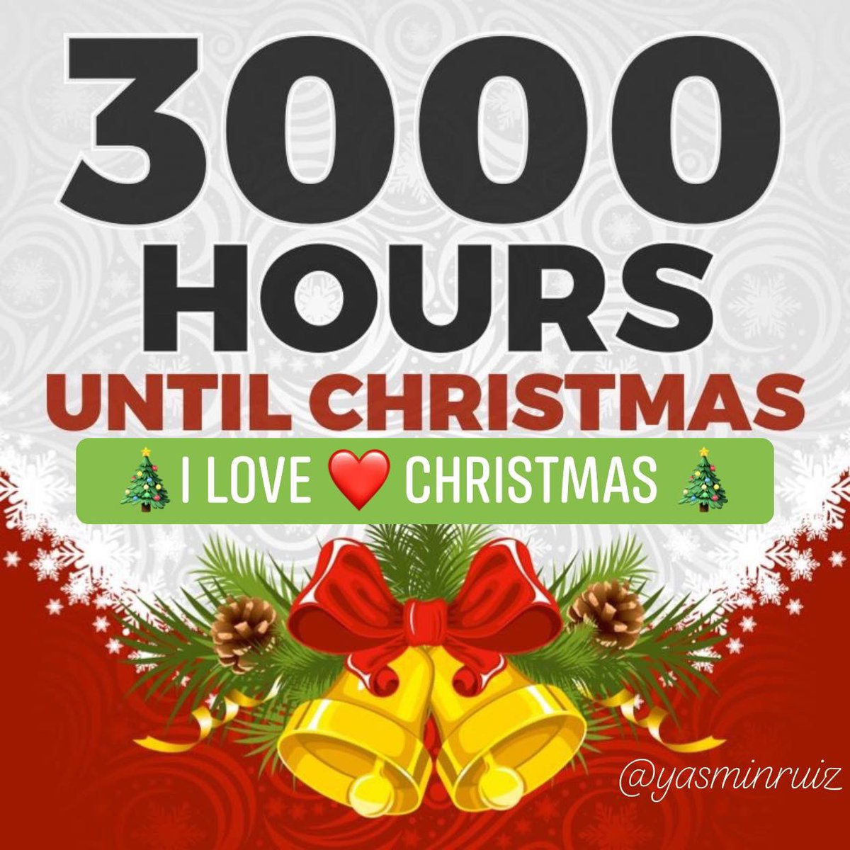 How Many Hours Until Christmas.3000 Hours Until Christmas Count Down To Christmas