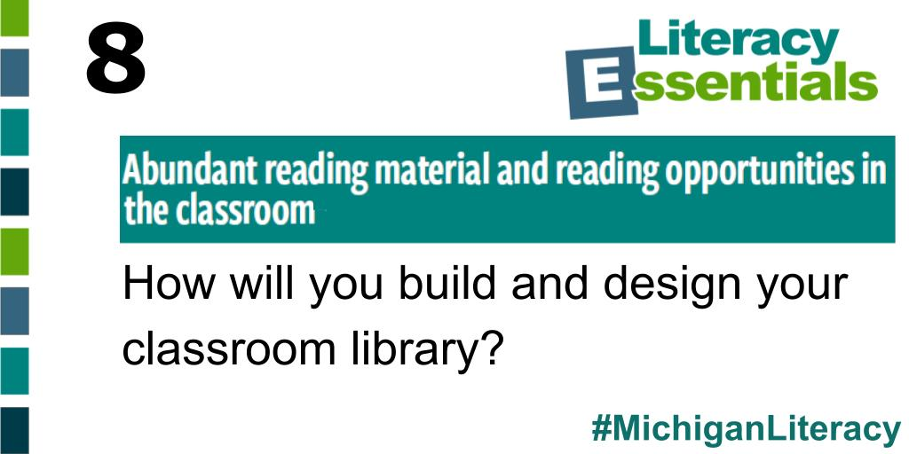 Q8: How will you build and design your classroom library? We'd love to see some pictures! #MichiganLiteracy<br>http://pic.twitter.com/yGIXT7yvdE