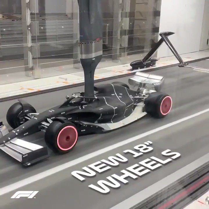 Rolling into life 🤩   The 2021 #F1 car model was tested in the wind tunnel and discovered some promising findings 👀