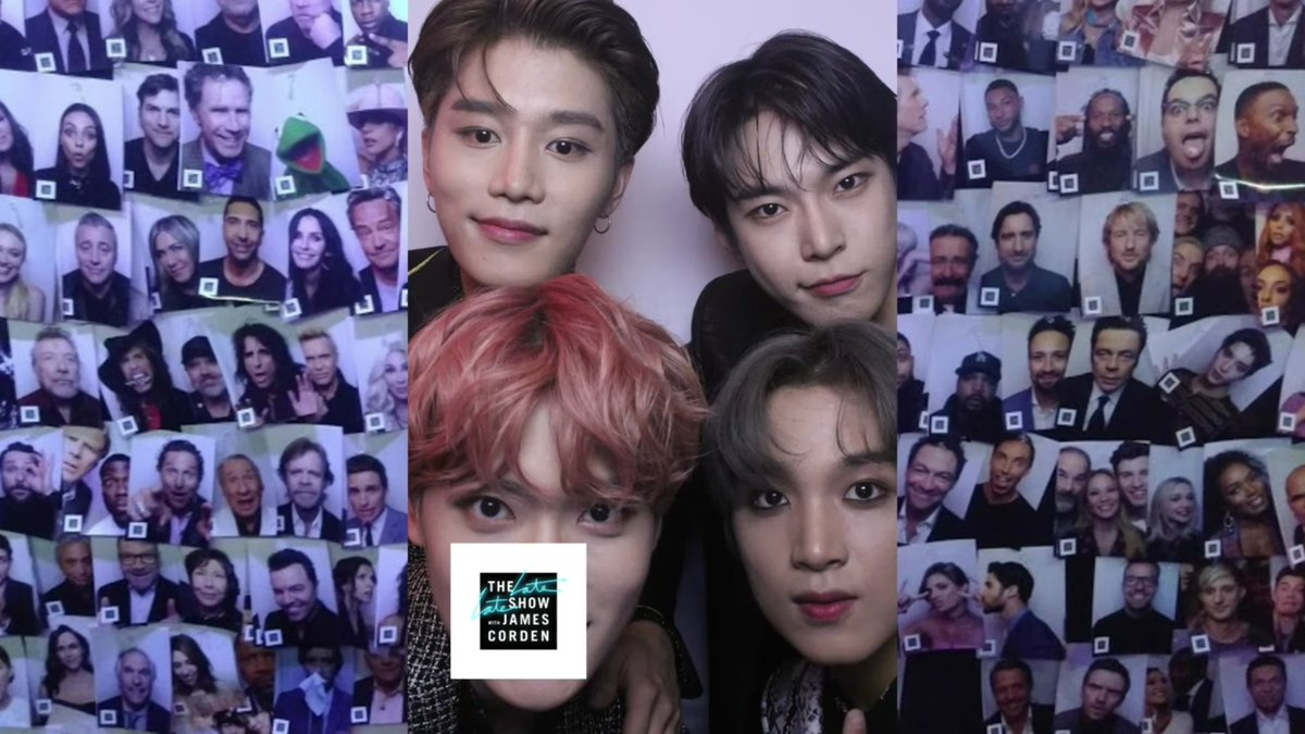 190822 #NCT127 The Late Late Show Photo Booth Montage: Year 4 | The Late Late Show with James Corden (3:08~)youtu.be/-Dlr6buQYzo
