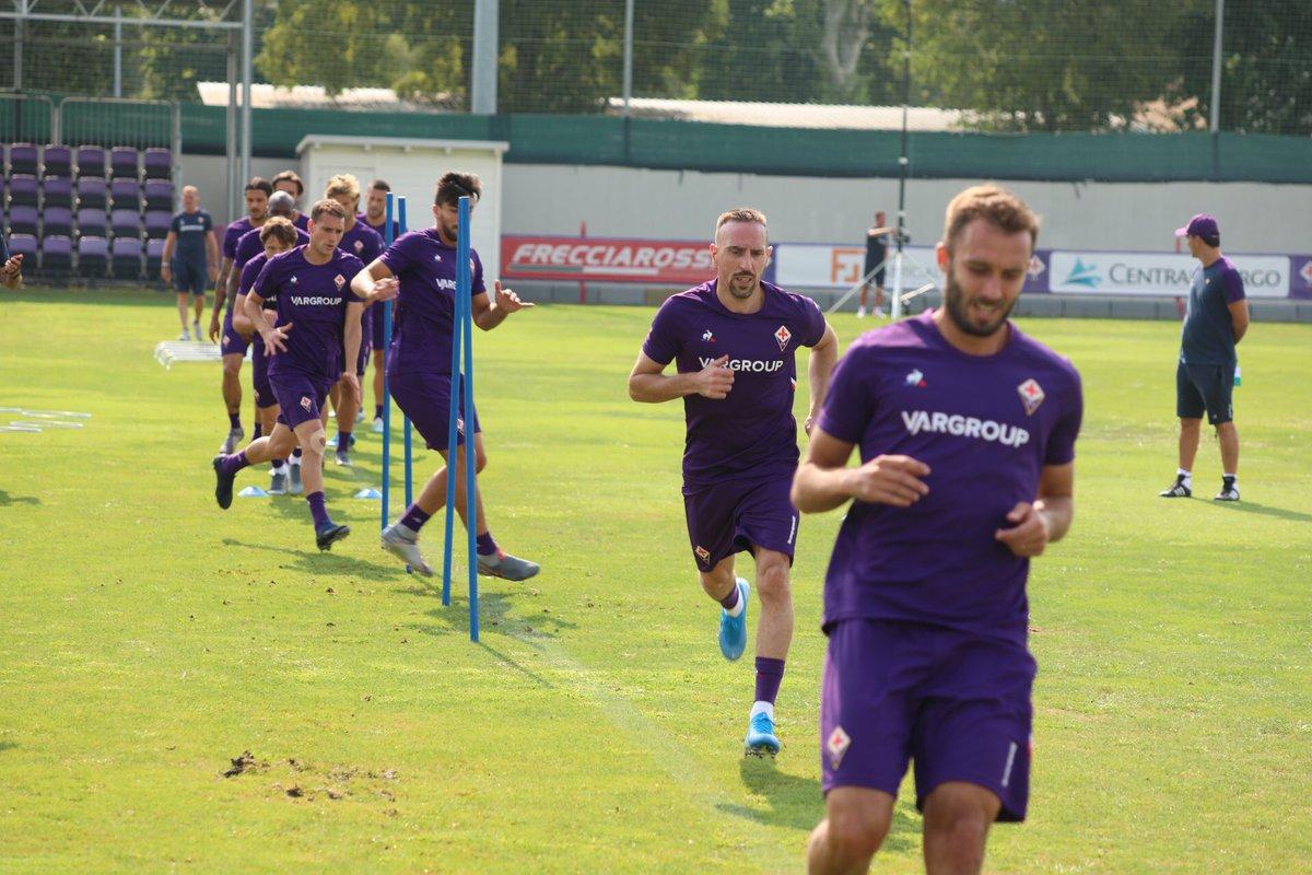 Fiorentina : Franck Ribéry a disputé son premier entraînement