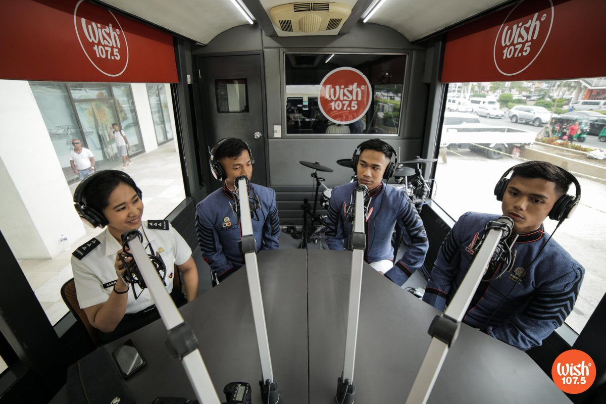 Captain Joy Gammad, Cadet First Class Ram Michael Navarro, Cadet First Class Armand Custodio, & Cadet First Class Jon Carlo Samarita of the Philippine Military Academy, hopped aboard the Wish Bus and talked about the upcoming PMA Entrance Exam which will take place on August 25. <br>http://pic.twitter.com/UQKPS4uwfU