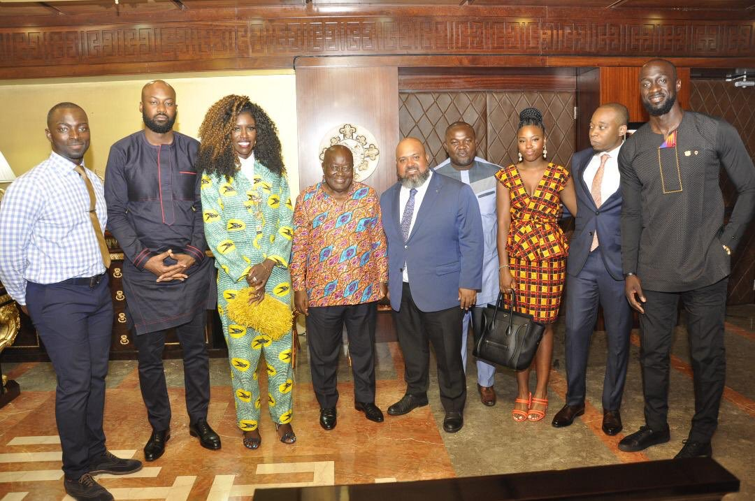 In other news, His Excellency @NAkufoAddo promised support for Ghana basketball when we visited with @Pops @badassboz and some @NBA_Africa officials. Mr. President, JUST ONE INDOOR ARENA and we won't bother you again. @garyalsmith @eastsportsman @ballersunitegh @KojoNketsia