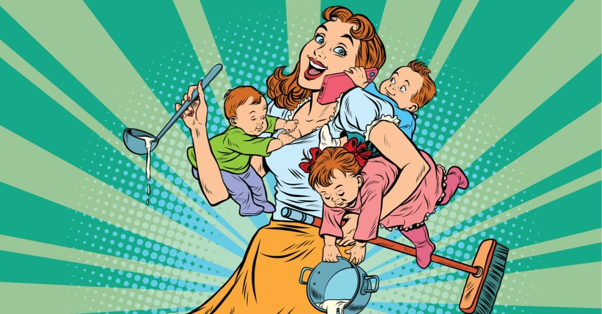Многодетной маме открытки