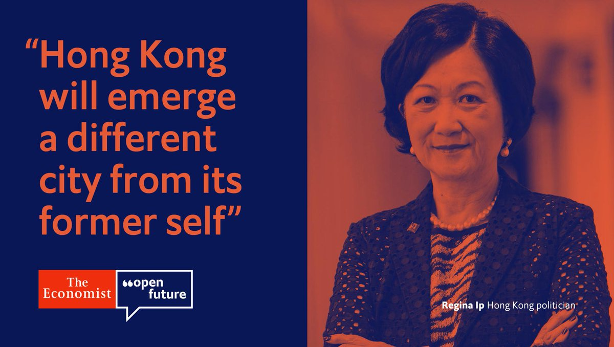 Regina Ip, a member of Hong Kong's LegCo and Executive Council, says that the territory should be more worried about abandonment by China than intervention #OpenFuture https://econ.st/2zdG4Sf