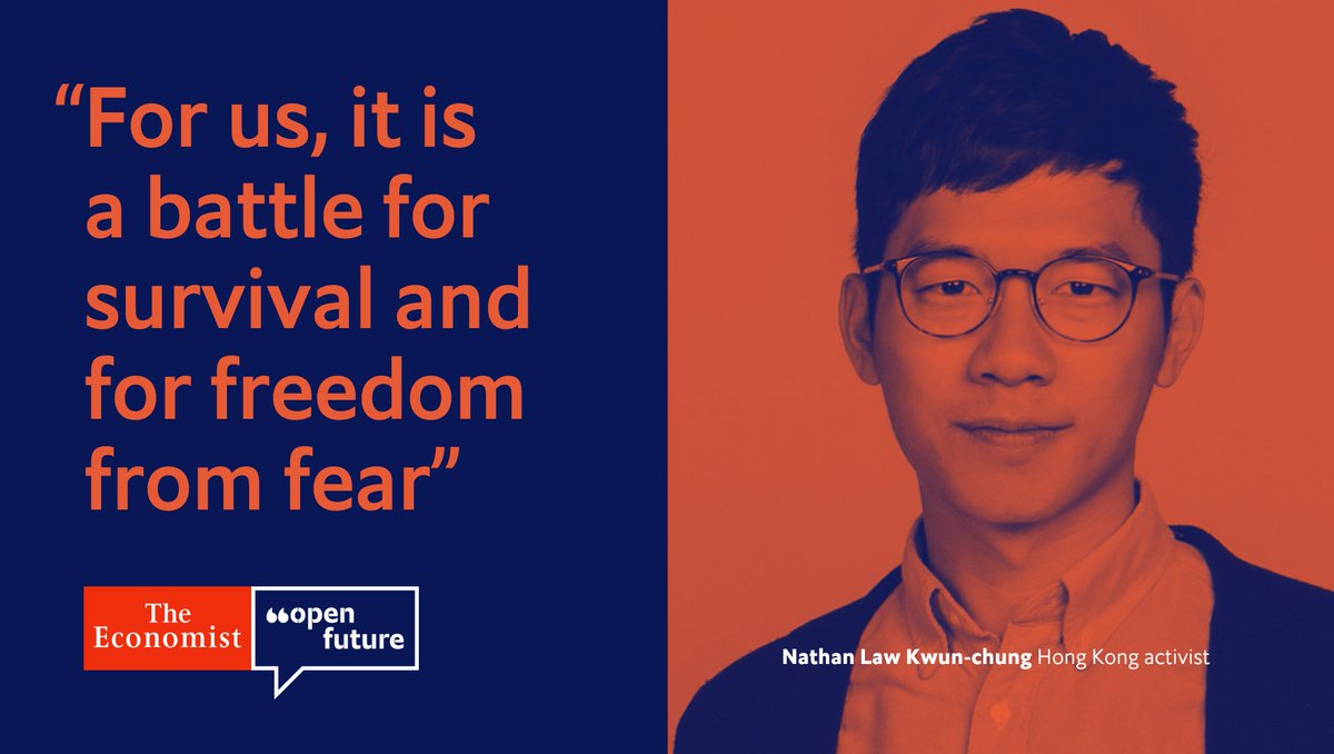 """""""Protesters cannot retreat without promises of concrete reforms from the government,"""" says Nathan Law Kwun-chung, a politician and activist #OpenFuture https://econ.st/2zfjzwh"""