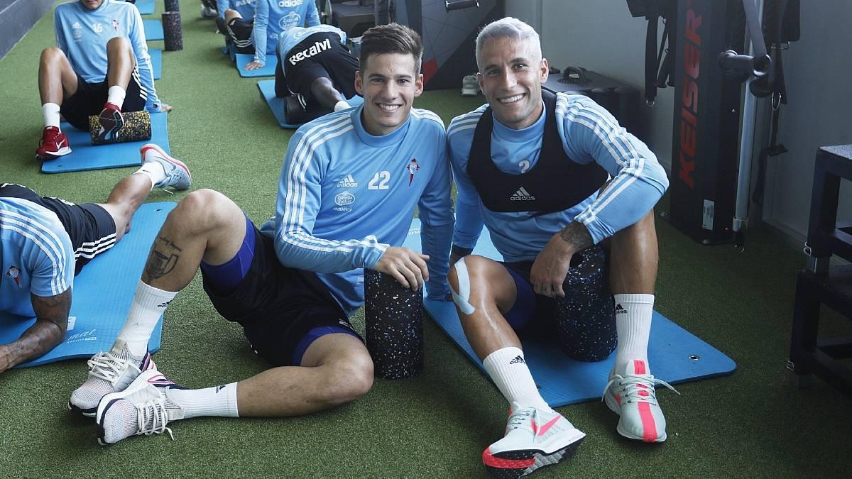 Santi Mina y Hugo Mallo en A Madroa (Foto: RCCV).