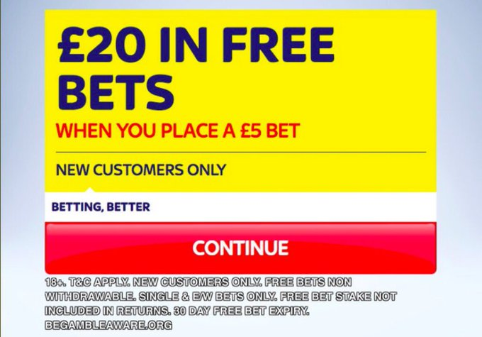 This boost is ONLY available at SkyBet! ✅ Join now, bet £5 & get £20 FREE BETS when new HERE >>> footy.ac/SkyBet5Get20FR… New Customer Offer T&Cs apply 18+ begambleaware