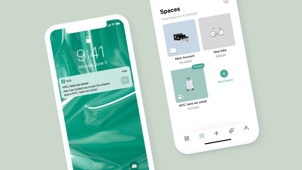 N26 launches Shared Spaces and is now fully available in the U.S. tcrn.ch/2NsJ3P5 by @romaindillet