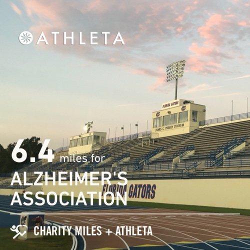 Team Lady Power on the track! 6.4 @CharityMiles for @alzassociation. Thx @Athleta for sponsoring me! #PowerofShe