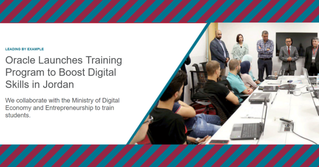 Continuous transformation is driven by #automation #AI #ML #Blockchain ... @Oracle_ME @Oraclepartners & @MoDEEJO collaborate to boost students Digital Skills in Jordan - @ORCLCitizenShip @OracleCloud @Oracleemeaps @fjtorres #emeapartners - Here's how  http:// bit.ly/2MxQogw    <br>http://pic.twitter.com/irZFvAij4i