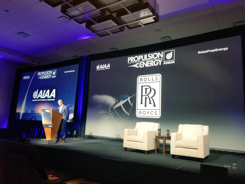 Jason Gardellis @RollsRoyce gets the final day of Propulsion and Energy Forum kicked off. #AiaaPropEnergy🔥