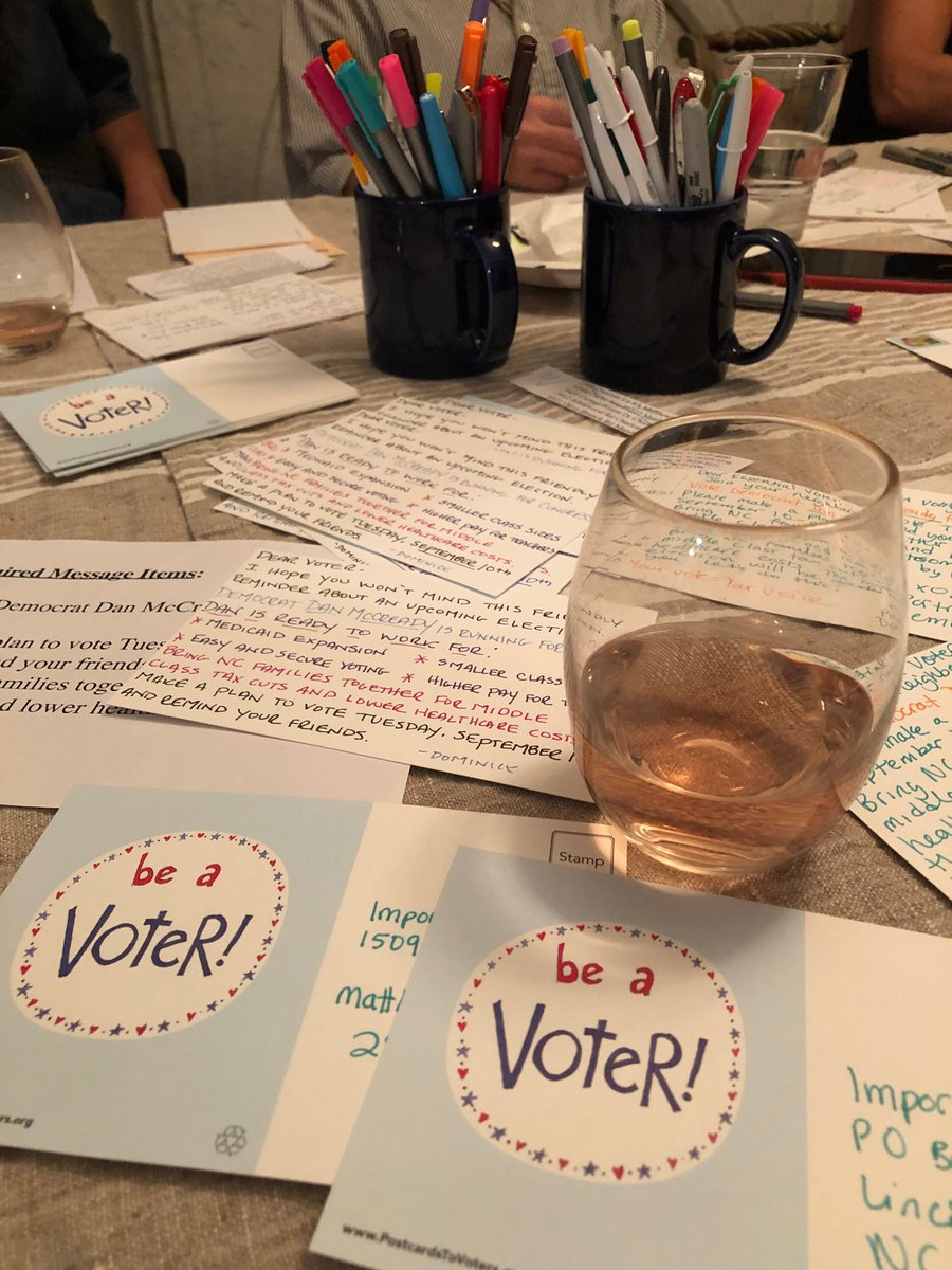 @McCreadyForNC we are rooting for you and reaching out to your voters from Brooklyn, NY! #PostcardsToVoters #BlueWave <br>http://pic.twitter.com/Iaii1KutUJ