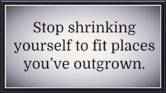 Stop shrinking yourself to fit places...  #ThursdayThoughts #quote<br>http://pic.twitter.com/OvkX01jFSq