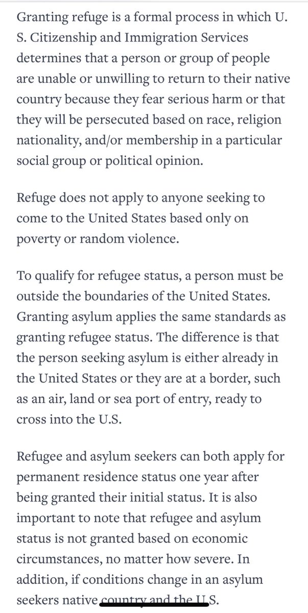 What a #Refugee isn't