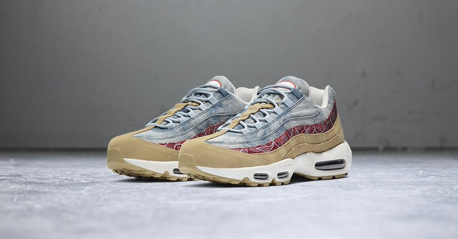"""NIKE AIR MAX 95 """"WILD WEST"""" $108.78 FREE SHIPPING 
