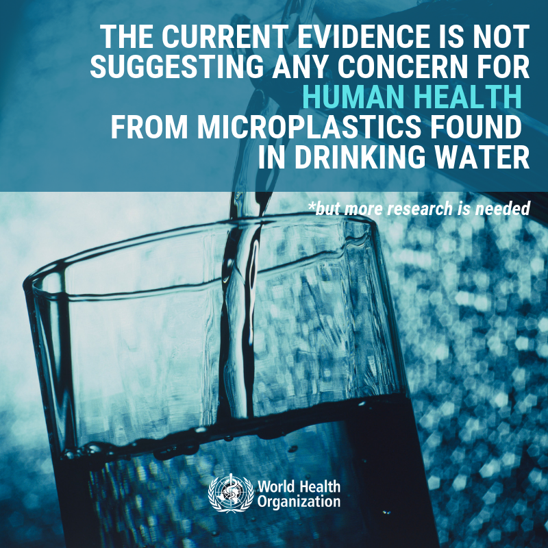 Microplastics are everywhere, including in our drinking water, food and air. @WHO calls for more research into microplastics and a crackdown on plastic pollution. bit.ly/2Nz6d6H #BeatPlasticPollution