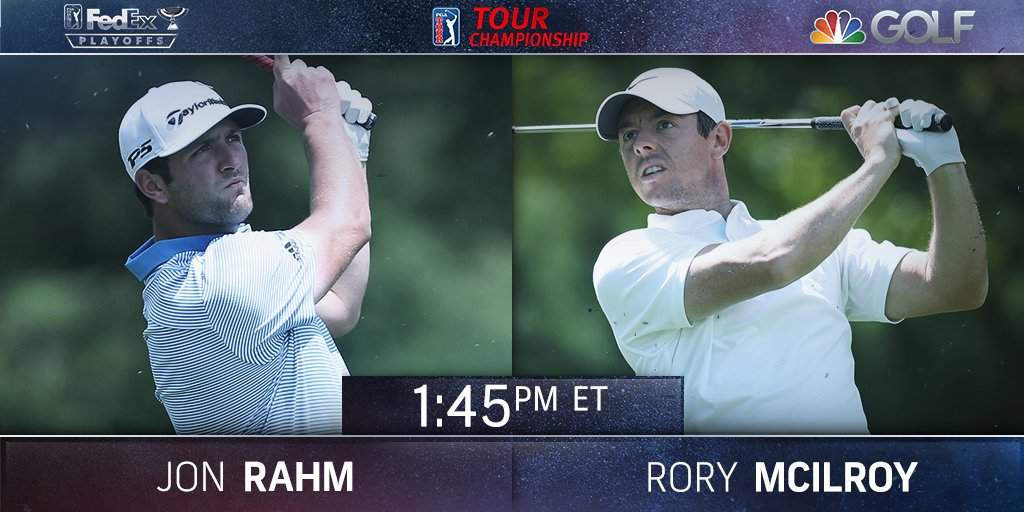 #RT @GolfChannel: Now on the tee at the @playofffinale: Jon Rahm and Rory McIlroy  Live Scores: https://t.co/d5W5ikaX2E https://t.co/QItv6PrAmf