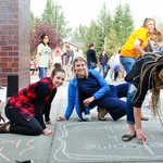 Image for the Tweet beginning: Chalk the Walk was a