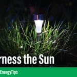 Brighten up your yard with solar-powered outdoor lighting and save! #EnergyTips