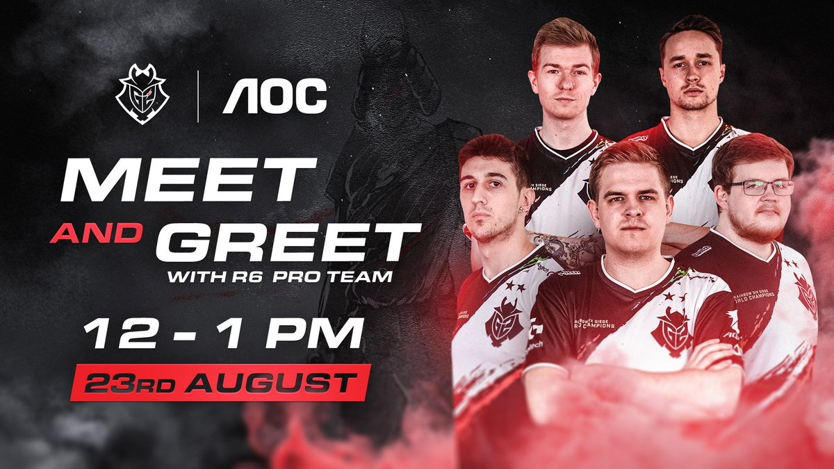 G2 Esports On Twitter Gamescom Just Got Better If You Re There Tomorrow Come On Over To Our Booth To Say Hi To Our Rainbow 6 Squad