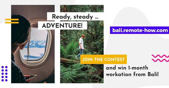 🌅✈Would you like to spend a month working remotely from Bali?😊Our colleagues from @remot...