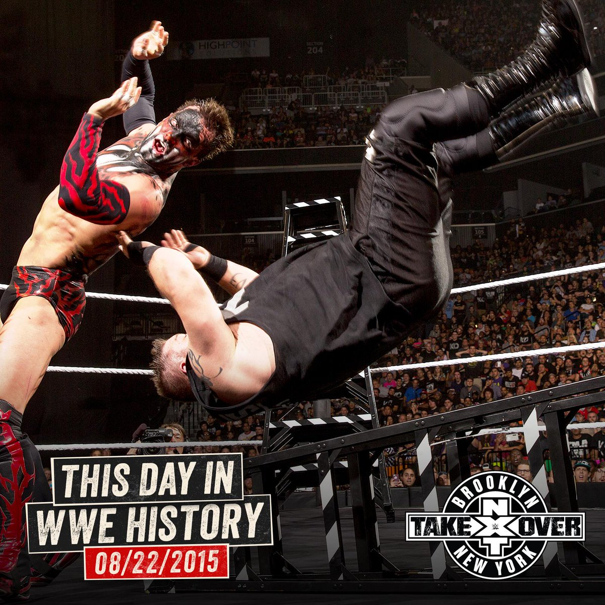 The #NXTChampionship was on the line when @FinnBalor and @FightOwensFight COLLIDED in a #LadderMatch at #NXTTakeOver: Brooklyn on this day in 2015! https://watch.wwe.com/episode/WWE-NXT-TakeOver-Brooklyn-9721?sf217885813=1 …