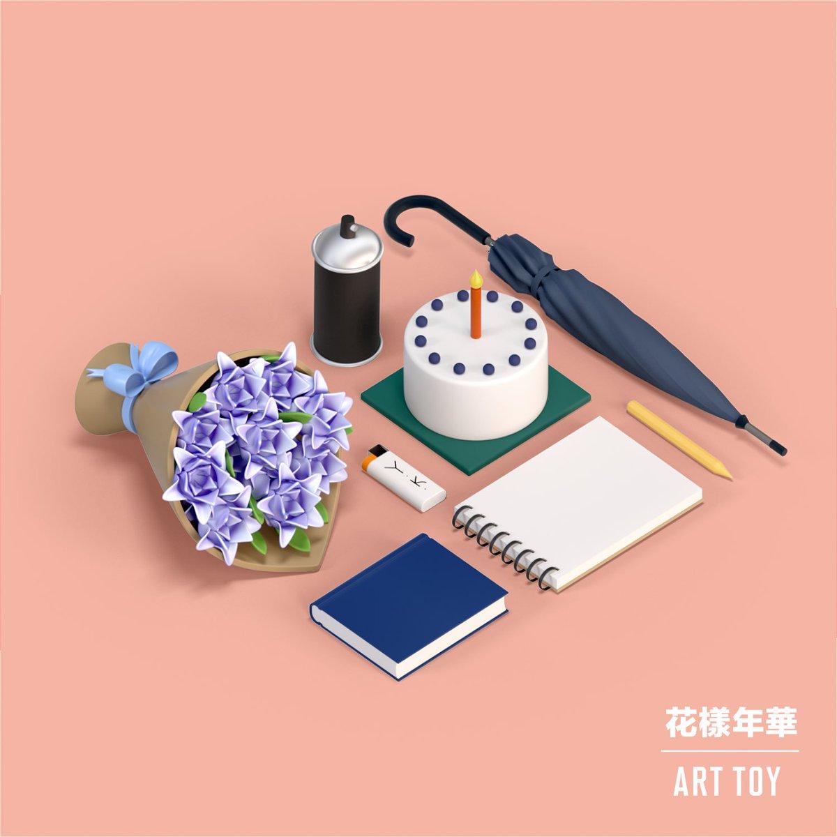 ยุนกิ - ไฟแช็ค พี่จิน - ดอกไม้ แท - สเปรย์พ่นสี