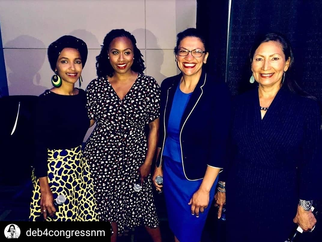 "#TBT with Congresswoman Deb Haaland:  ""What an incredible day at #NN19! Being around so many passionate, courageous leaders (and future leaders) was truly inspiring.""  #TheSquad #SquadGoals #WomenLeaders @Deb4CongressNM<br>http://pic.twitter.com/TOJRHhZj1M"