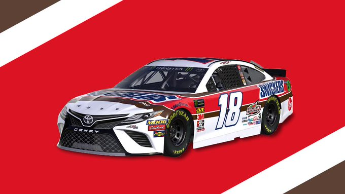 This scheme satisfies 🍫  Tell us what you think of @KyleBusch's @TooToughToTame paint for #NASCARThrowback, then read about its history: https://t.co/yzqkunc