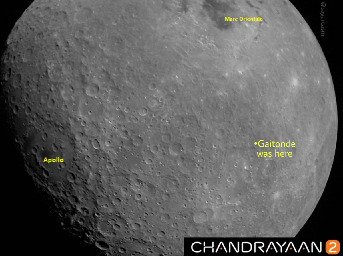 The first picture of the moon taken by #Chandrayan2 is fascinating