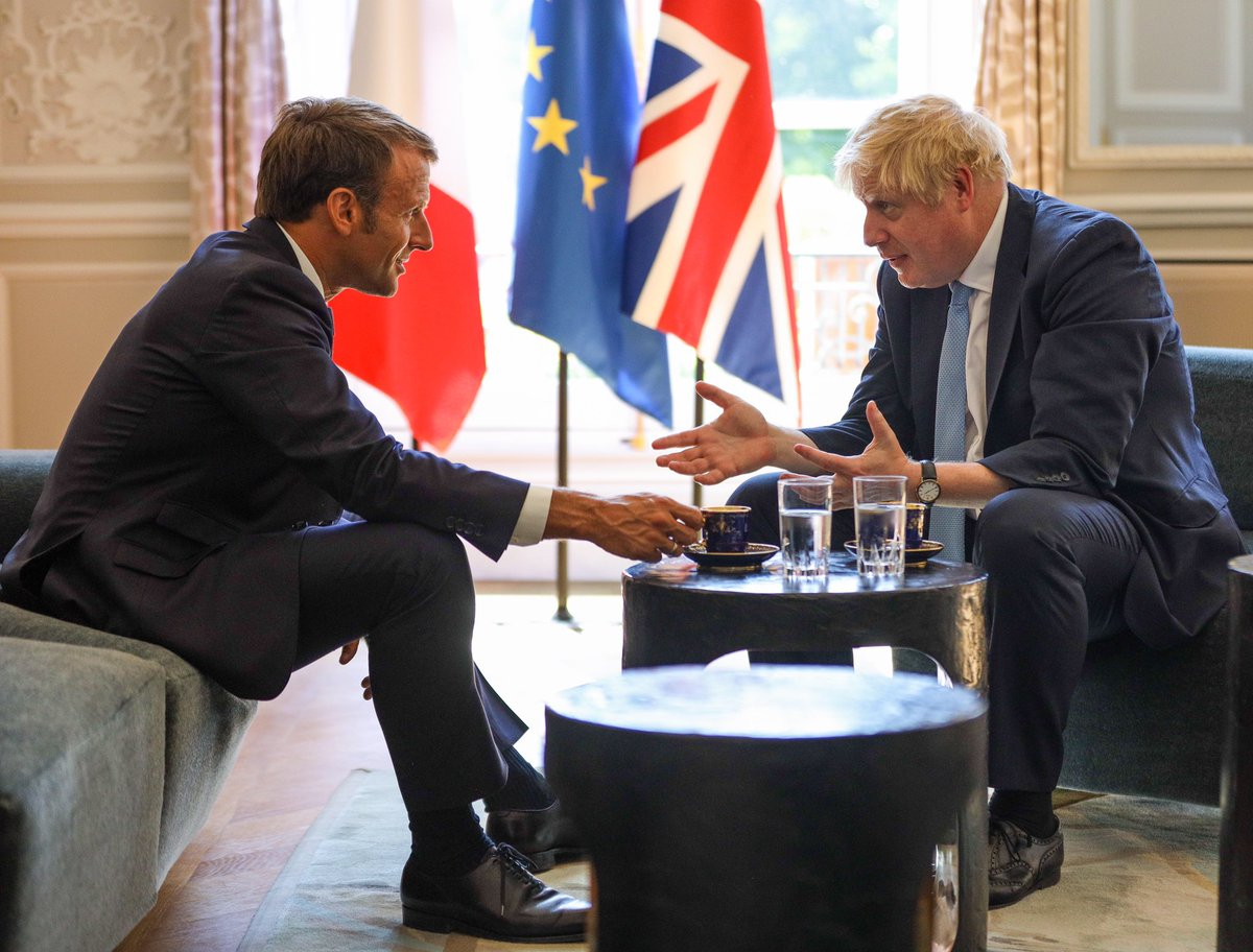 Today I met President @EmmanuelMacron in Paris. Let's get Brexit done, sensibly and pragmatically and in the interests of both sides. Let's get on with deepening and intensifying the friendship and the partnership between our nations.