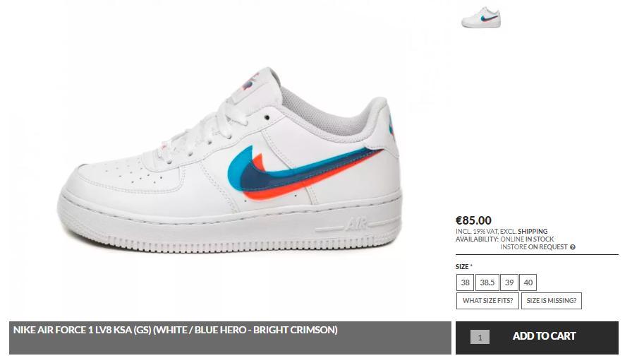 Nike Air Max 1 in GS online kaufen asphaltgold