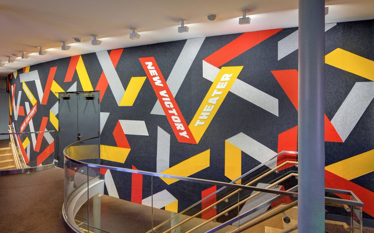 Paula Scher designs new identity & environmental graphics for @NewVictory Theater in NYC pentagram.com/work/new-victo…