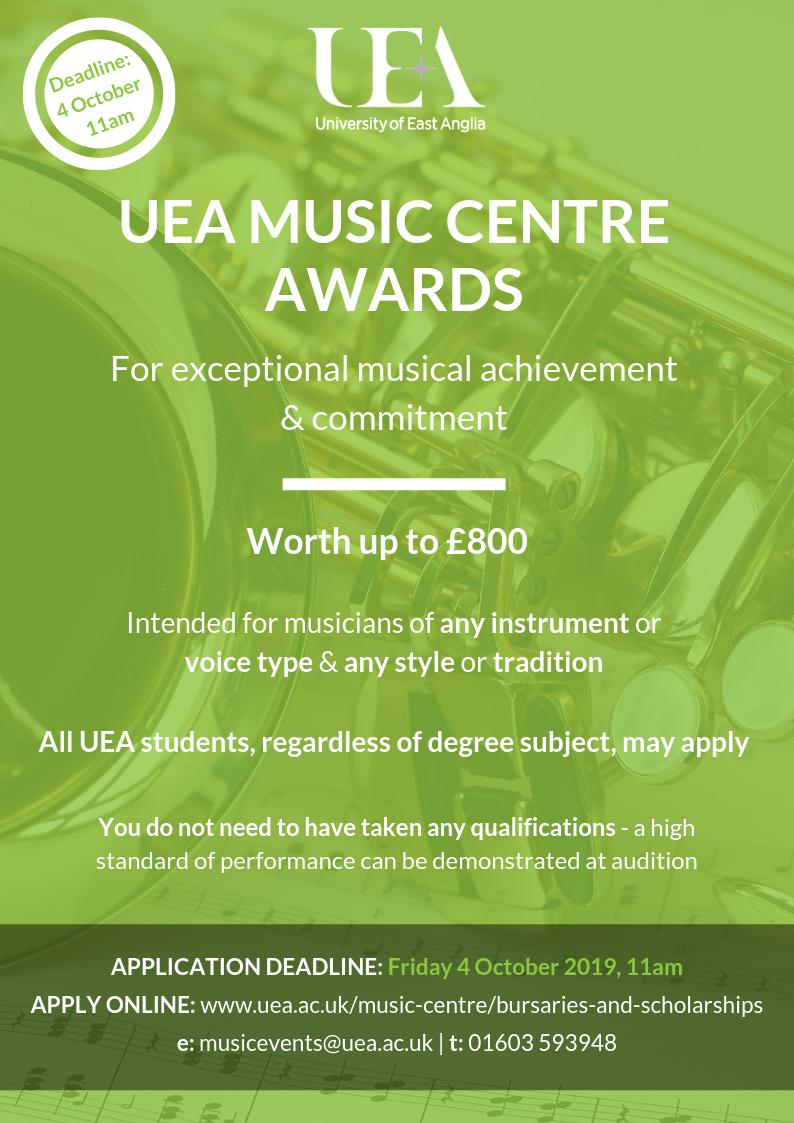 Coming to UEA in September with previous musical experience? You might be eligible for a UEA Music Award. Find out more at http://ow.ly/pa1j50vcEjo  @UEAGrads @UEAStudentEnt @biouea @UEA_Chemistry @UEA_Maths