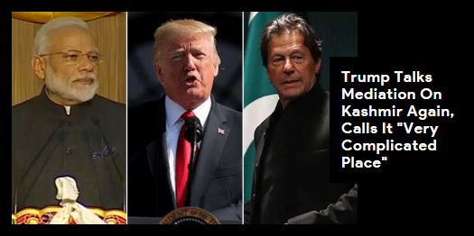 Lead story now on Speaking a day after phone calls with both PM Modi and Pakistan PM Imran Khan, Donald Trump said he was happy to try and help calm the situation in #Kashmir. Read here #NDTVLeadStory#JammuAndKashmir http://readr.me/1plew