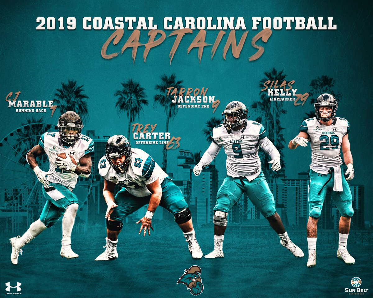 Coastal Football On Twitter Ladies And Gentlemen Your Coastal Carolina Football Captains As Voted On By The Players ChantsUp L BEL EVE L BAM Https t co uwFyDePYcy