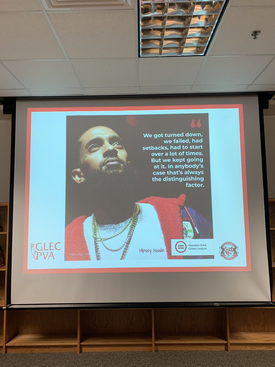 "Today we learned more about @NipseyHussle through a jigsaw article reading, ""5 Things Nipsey Hussle's Legacy Taught Us"" by Revolt TV. Our educators then selected one of the 5 principles and brainstormed how we will apply that value to empower our kids! #TMC<br>http://pic.twitter.com/vCaNSzEWRq"