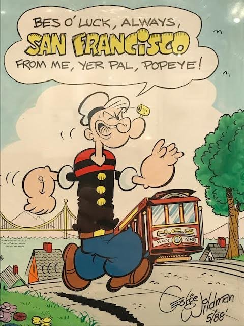 Cartoon Art Museum On Twitter Tbt The Natcartoonsoc Visited San Francisco In 1988 And Popeye Along With His Longtime Comic Book Artist George Wildman Came Along For The Ride Be Sure To Catch Our