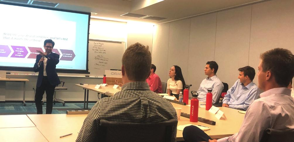 Bruno brought his passion and energy to help the Class of 2019 elevate their personal brands. Yesterday was a great session to help the class develop their personal identities as consultants of NAAC. #Classof2019 #whatgreatlookslike #oracleconsulting <br>http://pic.twitter.com/VxTTRe9eA6