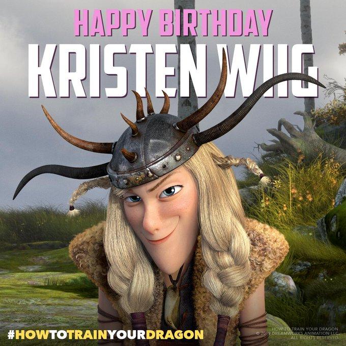 She s a little Ruff around the edges, but we still love her! Happy birthday, Kristen Wiig!