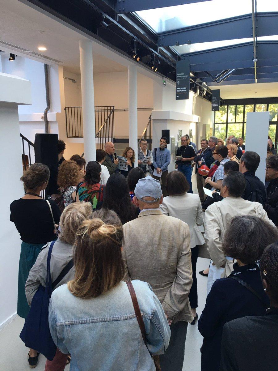 Nous présentons à la presse le nouveau @museeML ,place Denfert-Rochereau au-dessus du PC de Rol-Tanguy,qui rend un hommage mérité à ceux qui libérèrent @Paris il y a 75 ans,à Jean Moulin et au Général Leclerc. Un musée innovant, ouvert à tous,voulu par @Anne_Hidalgo @parismusees