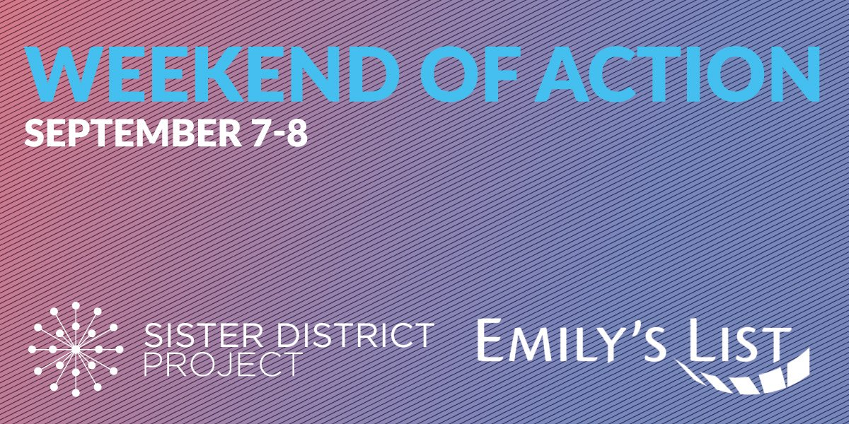We only need to flip TWO seats in each chamber in Virginia to turn the state legislature blue this Nov.   So, we're teaming up w/ @emilyslist to make it happen.  We need volunteers to take part in our nationwide Weekend of Action.  Are you in?  https:// docs.google.com/forms/d/e/1FAI pQLSfyPRGS0jKjXf1IPGD6w5UbC5jkQQQAhT0t7kP09mEcBw1lww/viewform  …   #BlueWave <br>http://pic.twitter.com/pA0vIVjm73