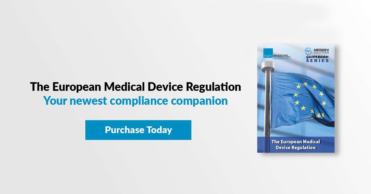 The clock is ticking on the EU Medical Device Regulation. Is your company ready? Understand every part of the regulation with this unique guidebook. Buy a print copy now through the end of August and get the e-book version free! No promo code needed. https://bit.ly/2KVwPvC #MDR